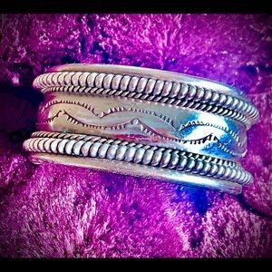 Cuff sterling silver bracelet